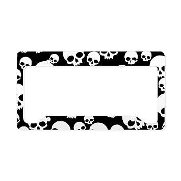 Amazon.com: Funny Skull License Plate Frame License Tag Frame ...