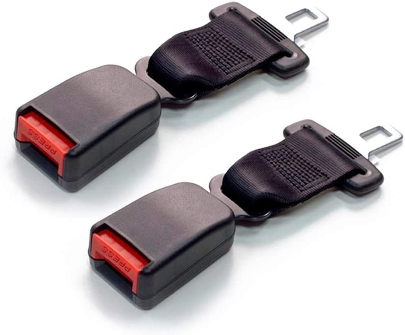 Seat Belt Extender Pros E4 Safety Certified Regular 7 Inch Seat Belt Extender 2-Pack from Black 7//8 Inch Type A Metal Tongue Buckle up and Protect Your Family