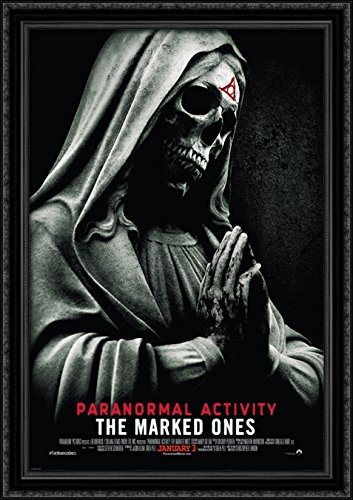 Paranormal Activity The Marked Ones 28x40 Large Black Ornate Wood Framed Canvas Movie Poster Art by ArtDirect