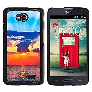 Paccase / SLIM PC / Aliminium Casa Carcasa Funda Case Cover para - Sun Ray Sea Clouds God Spiritual - LG Optimus L70 / LS620 / D325 / MS323
