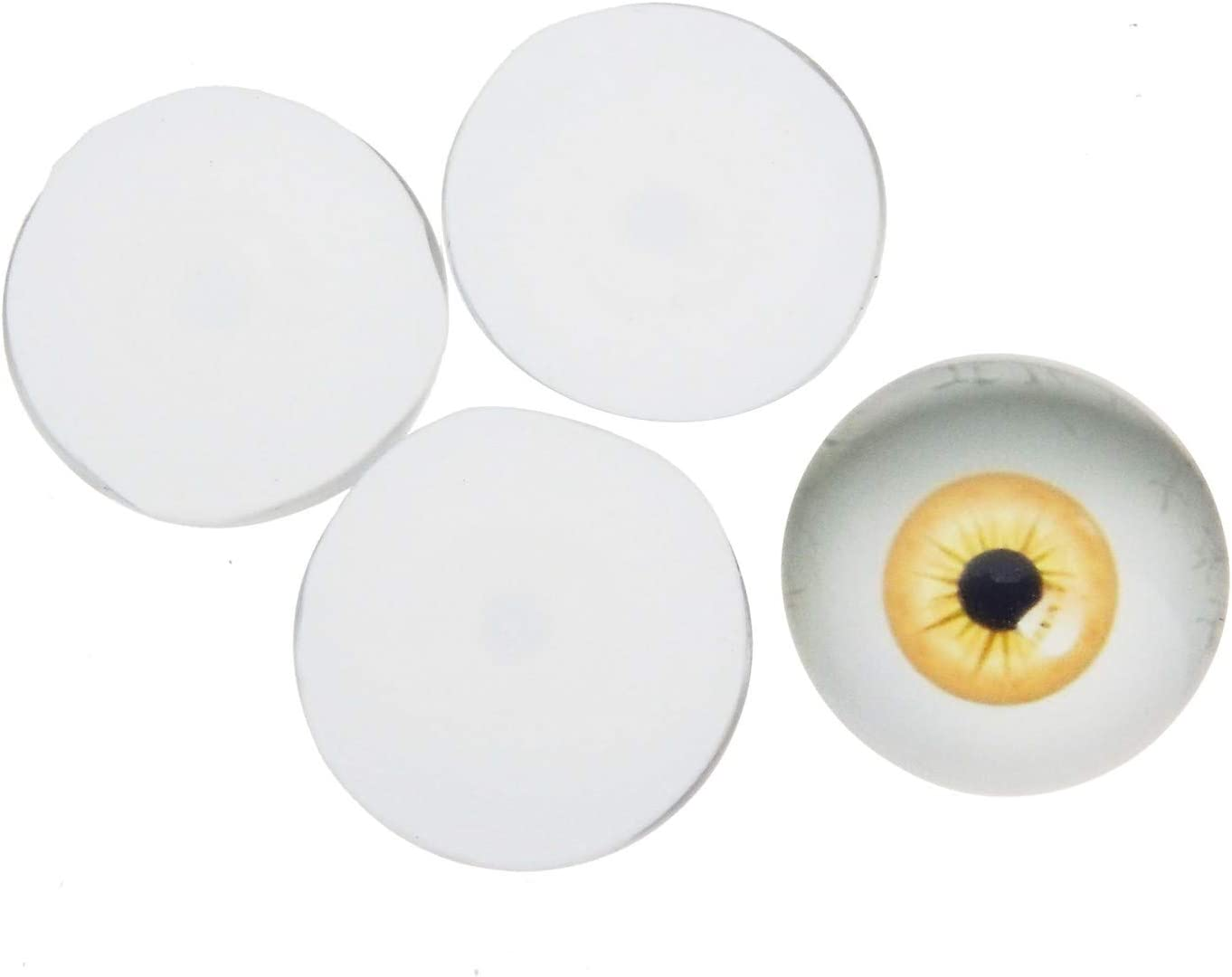 90 Pairs Mixed Size Dome Glass Human Eyes for Art Dolls Sculptures Props Masks Fursuits Jewelry Making Taxidermy Flatback 6mm 8mm 10mm 12mm 15mm 18mm 20mm 25mm 30mm
