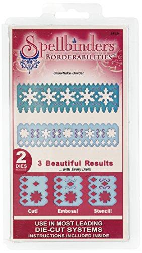 (Spellbinders Borderabilities Petite Dies 5-1/2-Inch, Snowflake)