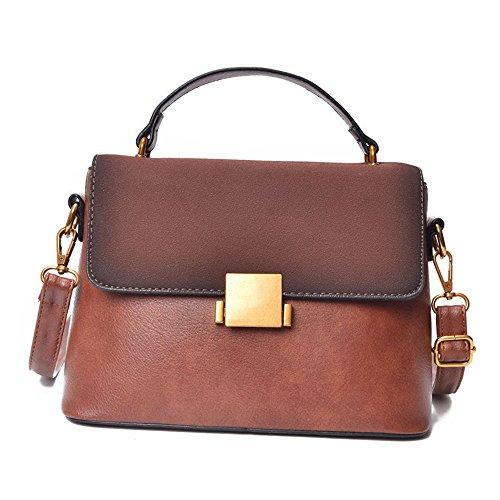 Bag Nuevo Bolso Ambiente Solo Colgada Brown Negro Pequeño Moda Hombro Lijado Cuadrado Retro De Antique Del GWQGZ xX7gqx
