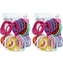 Goody Ouchless Elastic Ponytail Holders Gentle, No Metal #09427 (Colors Vary) [2 Pack of 72]