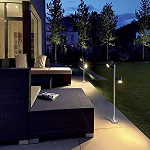 4 Pack Outdoor LED Spotlight Low Voltage Landscape Lighting, Greenclick Warm White Garden Lights with UL Listed Adapter Waterproof decking lights