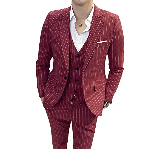 Red 3 Piece Suit - 4
