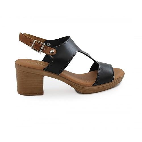 Sandalia Medio Amazon Negro Tacón es Benavente Zapatos Y rSnqrP