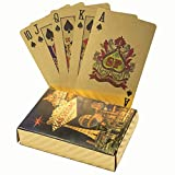 KALIFANO Luxury Gold Plated Playing Cards - Las