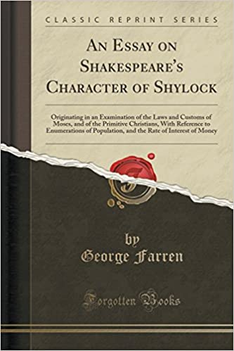 Amazoncom An Essay On Shakespeares Character Of Shylock  Amazoncom An Essay On Shakespeares Character Of Shylock Originating In  An Examination Of The Laws And Customs Of Moses And Of The Primitive  Christians  Do My Assignement also Grant Writing Services Fee  Example Of Proposal Essay
