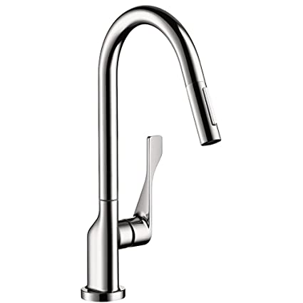 Attirant Hansgrohe 39835001 Axor Citterio Pull Out Spray Kitchen Faucet, Chrome