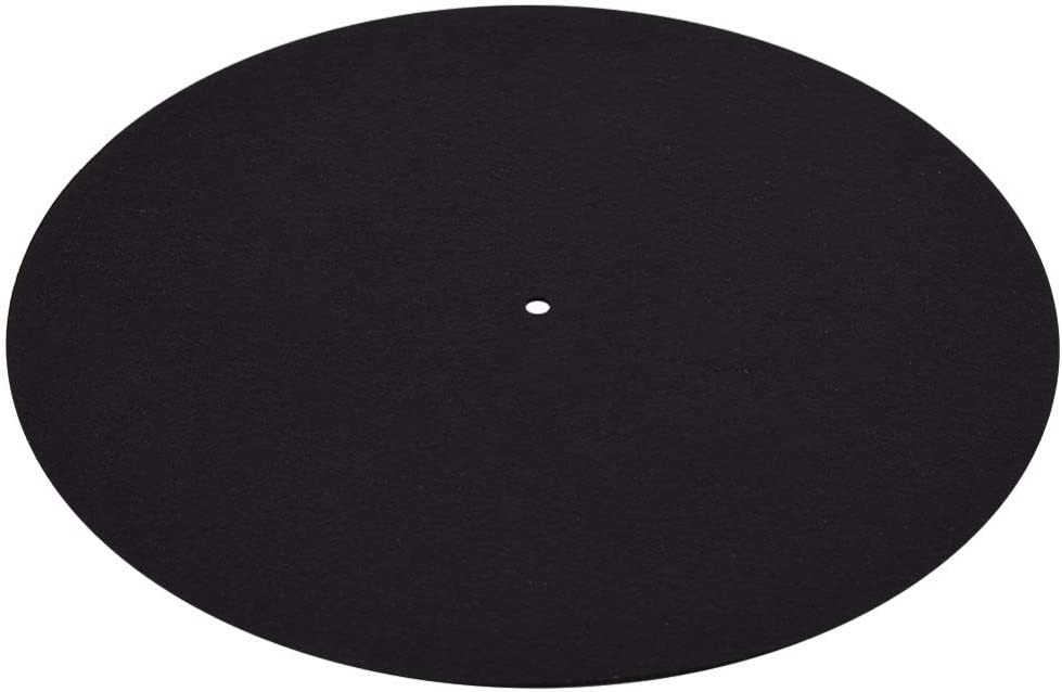 Semoic 1 Pcs Ultra-Mince Anti-Statique LP Vinyle Platine Vinyle Record Player Pad pour Phonographes Plat Doux Tapis Record Slipmat Mat Pad