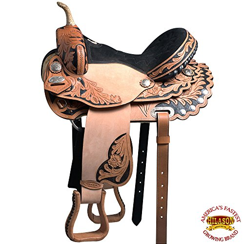 HILASON 15 WESTERN FLEX TREE BARREL RACING TRAIL RIDING SADDLE