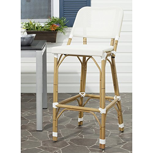 Safavieh Home Collection Deltana Beige Indoor/ Outdoor Barstool ()