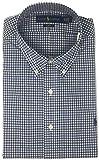Polo Ralph Lauren Men Slim Fit Poplin Sport Shirt, Green/Blue, Large