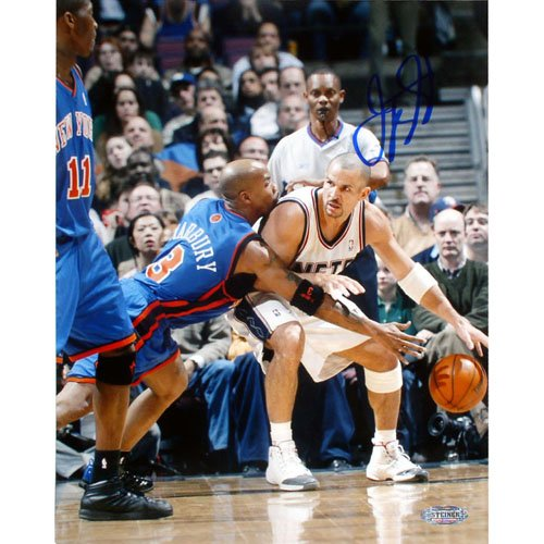 - Steiner Sports NBA Jason Kidd Nets Vs Marbury Single by Kidd Autographed 8-by-10-Inch Photograph