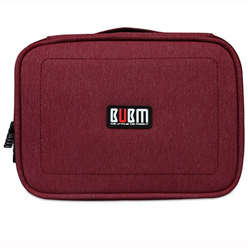 BUBM DPS-L RED Portable Travel Gadget Organizer Double Layers Electronics Accessories Bag Data Wire Storage Package (Red,Large) by BUBM (Image #2)