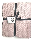 Piu Belle Blush Cotton Textured Queen 92'' x 96'' Coverlet