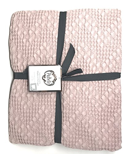 Piu Belle Blush Cotton Textured Queen 92'' x 96'' Coverlet by Piu Belle