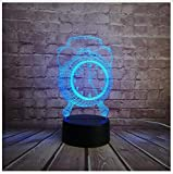 New Retro Fasion Alarm Clock Style Toy Decorative 3D USB Lamp Multicolor RGB Led Bulb Desk Table Night Light Home Novetly Design