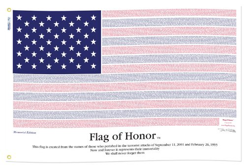 Flag of Honor 3 ft x 5 ft POLY-COTTON 9/11 Commemorative Flag 5' Poly Cotton Flag