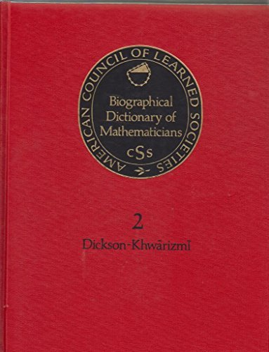 Biological Dict Mathematicians (Biographical Dictionary of Mathematicians)