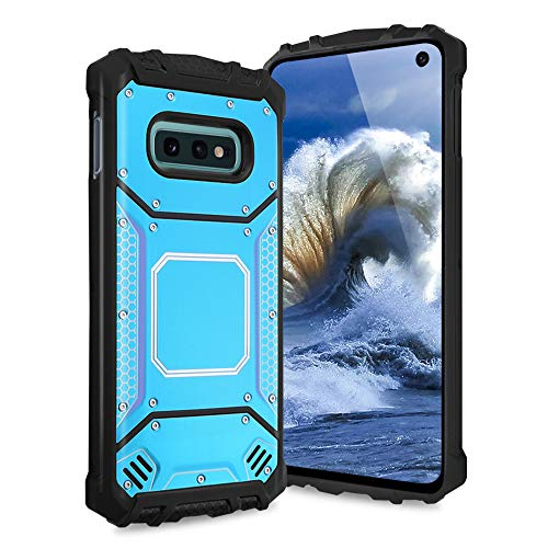 (TJS Galaxy S10e Case, Aluminum Metal Premium Drop Protection Shockproof Military Phone Case Cover with Built-in Metal Plate Back for Samsung Galaxy S10e (2019))