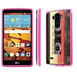 LG G Stylo [LS770 H631] Case, [NakedShield] [Hot Pink] DUO Shock Resistant Armor Case - [Cassette Awesome Mix Vol. 1] for LG G Stylo LS770 -  NakedShield for LG G Stylo