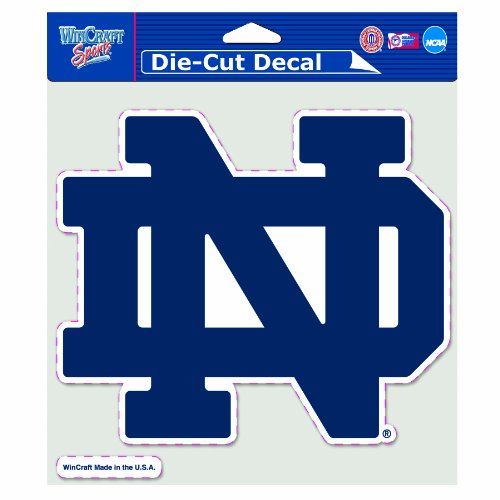 NCAA Notre Dame Fighting Irish 8-by-8 Inch Diecut ND Logo Colored Decal