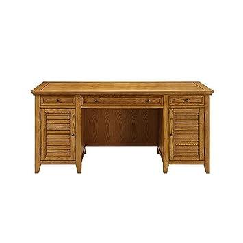 amazon com madison solid wood executive desk oak finish kitchen rh amazon com solid wood executive desk canada solid wood executive desk canada