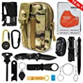 Puhibuox Survival Gear Kit, Gifts for Him Dad Husband Men Boyfirend Teen Boys 15-in-1, EDC Outdoor Emergency Tactical Survival Tool for Cars, Camping, Hiking, Hunting, Adventure Accessories from Puhibuox