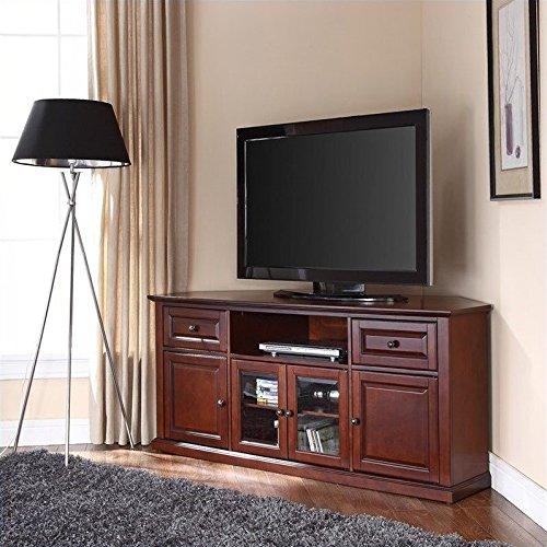 Crosley Furniture 60-inch Corner TV Stand - Vintage Mahogany - Mahogany Tv Cabinets