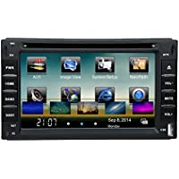 KKmoon In-Dash Double-Din 6 Car DVD USB SD Player GPS Navigation Bluetooth Radio Multimedia HD Entertainment System for All Car