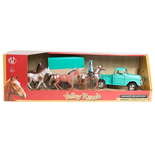 - M F Western Products 1955 Chevy Pickup with Horse Trailer