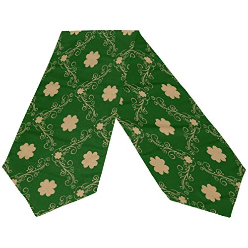 - Happy St Patrick's Day Elf Hat Green Gold Shamrock Long Table Runner 13x70 Inch, Spring Green Shamrock Elf Hat Rectangle Table Cloth Runner Placemat for Office Kitchen Dining Wedding Party Home Decor