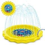 KidPal Sprinkle and Splash Play Mat Splash Pad Outdoor Water Play Sprinklers Outdoor Party Water Toys Fun 63