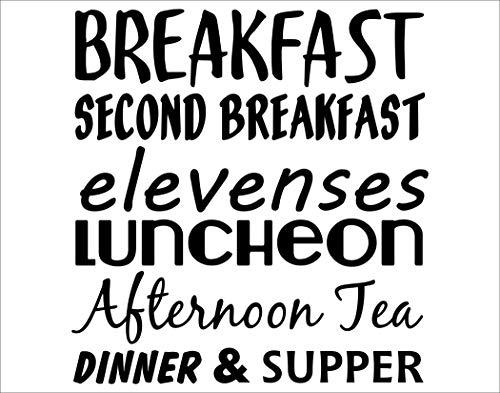 Breakfast. Second Breakfast. Elevenses. Luncheon. Afternoon Tea. Dinner & Supper. - 23