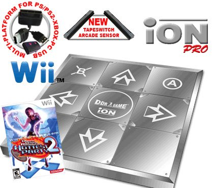 Wii Dance Dance Revolution Limited Edition iON Pro Metal Dance Pad + Dance Dance Revolution DDR Hott