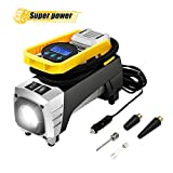 Tvird Portable Air Compressor Pump,12V 150PSI Tire Inflator with Powerful Emergency Flashlight for Spare Tire,Trailer,Bike,Jeep,RV,Soccor,Motorcycle.