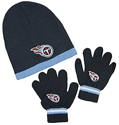 Tennessee Titans NFL Little Boys Knit Hat and Gloves Set - Red (Kids 4-7)