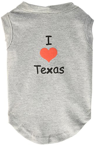 Mirage Pet Products 12-Inch I Love Texas Screen Print Shirts for Pets, Medium, Grey from Mirage Pet Products