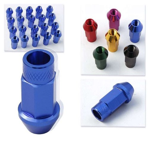 Godspeed 20 Pieces 12x 1.5mm Blue Extended Aluminum Lug Nut Lugs 12x1.5mm Wheel Nut Nuts Fit ALL Acura , Integra , Integra Type-r , Legend , NSX , GSR , RSX , RSX Type-s , RSX Type-r , Tl , Tl Type-s , Tl Type-sh-awd, TSX (Rsx Types Specs)