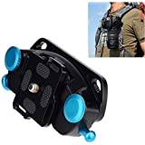 "Fomito Camera Waist Spider Belt Holster 1/4"" Screw Quick Strap Buckle Dull Polished Surface for DSLR Digital SLR Camera GoPro,etc"