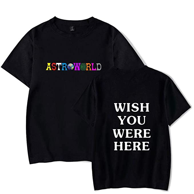 e7e0269fa83a Fashion Unisex Astroworld Travis Scott Shirt Woemns Mens Funny Vintage  Classic T-Shirt (S