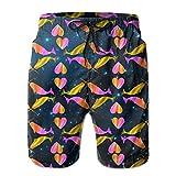 Love Colorful Narwal Men's Summer Swim TrunksXL