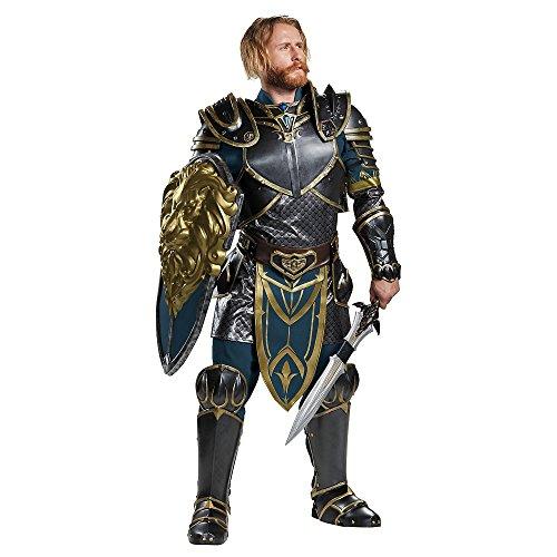 Disguise Men's Plus Size Warcraft Lothar Prestige Costume, Multi, (World Of Warcraft Halloween)