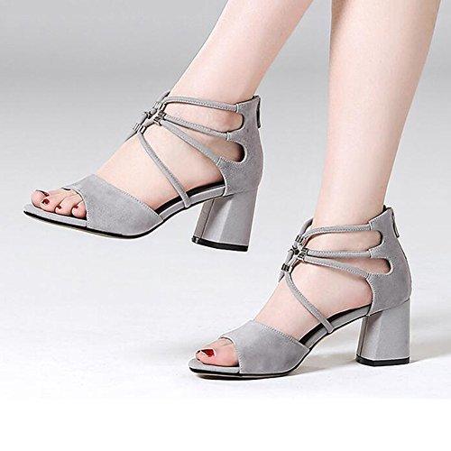 CUT HEEL EU40 MID Color LADIES WOMENS Sandals UK7 CJC HIGH SHOES T2 CHUNKY BLOCK Size T2 OUT t4xqR8RwX