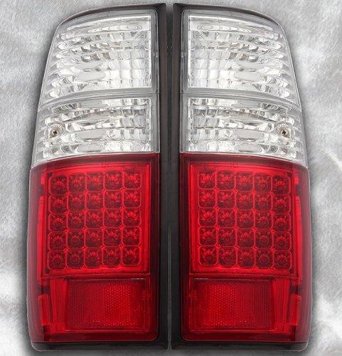 トヨタ ランドクルーザー80系/LEDテールライト(クリア/レッドタイプD)左右セット B00DBP9NI6