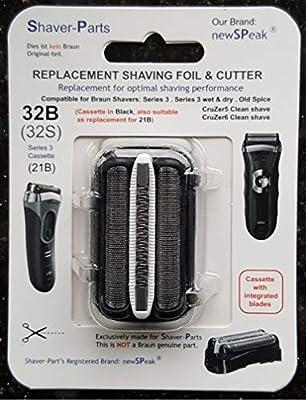 Reemplazo alternativo de la cuchilla de afeitar eléctrica Braun (cuchilla) casete 32B: Amazon.es: Salud y cuidado ...