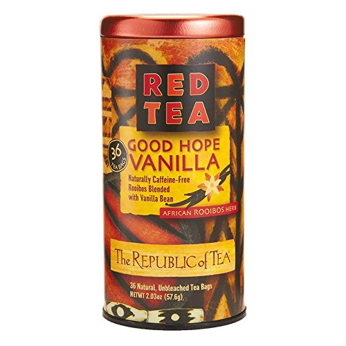 The Republic of Tea Red Tea African Rooibos Herb Good Hope Vanilla - 36 Tea Bags