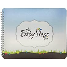 "NEW! Baby First Year Memory Book Journal. ""Baby Steps"" (TM), Poly Cover Hand Made. Memory keeper record book and journal for Boy or Girl. 7.5x9.5"" - Great Shower Gift"